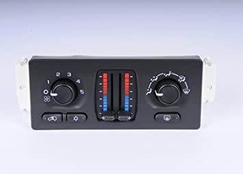 ACDelco 15-73566 GM Original Equipment Heating and Air Conditioning Control Panel with Rear Window Defogger Switch