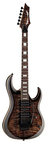 Dean MAB3 FM TBK Michael Batio Flame Top Solid-Body Electric Guitar, Trans Black