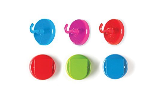 Learning Resources Super Strong Magnetic Hooks & Clips, 6 (Map Hook Clip)