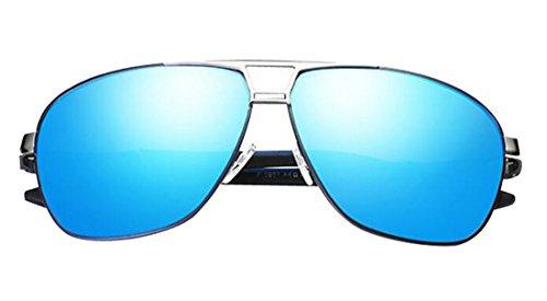 Cool Polaroid Fashion ultraviolet Blue HD Slive anti Metal Men Sunglasses Driving Sunglasses Lens JYR Sunglasses Tide Frame wqtxS0F