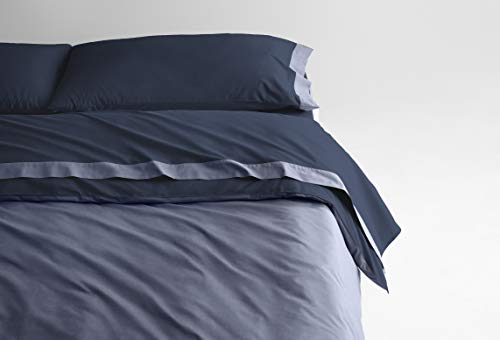 Casper Sleep Soft and Durable Supima Cotton Sheet Set, Twin, Navy/Azure