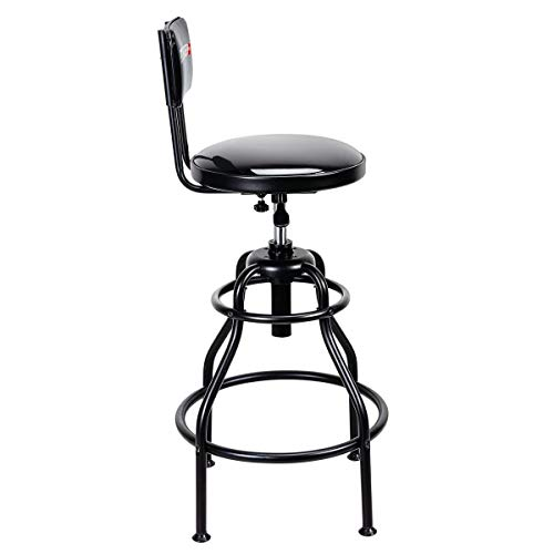 Adjustable Shop Stool with Backrest 275 lb Capacity by Pitt (Image #1)