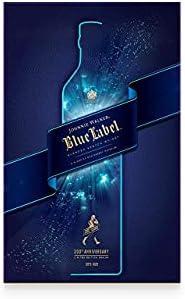Johnnie Walker Blue whisky esconcés, Pack con dos vasos de regalo - 700 ml