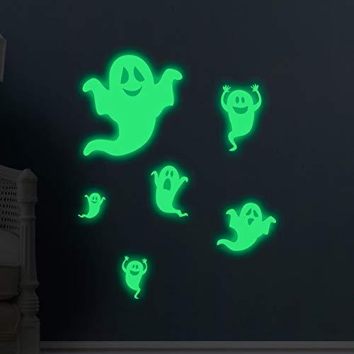 YOEDAF Halloween Luminous Ghosts Wall Sticker Glow in The Dark, Glowing Spooky Wall Decal Fluorescent Wallpaper Wall Decor Kids Bedroom Window Sticker (56x39cm) for $<!--$8.69-->