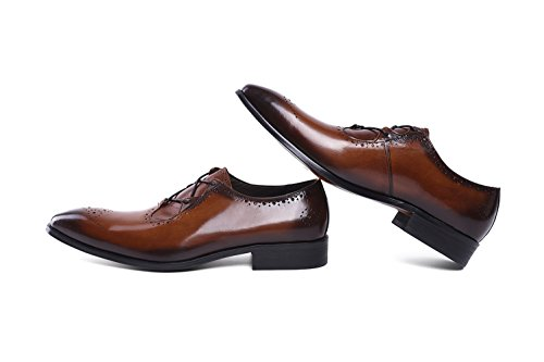 Felix Chu Men's Italian Designer Luxury Perfect Genuine Calf Leather shoes, Brown, 9 D(M) US by Felix Chu (Image #6)