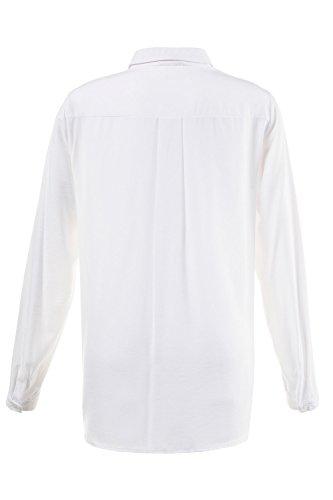 GINA_LAURA Damen   Hemd   Basic, Langarm   Brusttaschen , Hemdkragen   Loose-Fit   bis Größe XXXL   weiß XL 708259 20-XL
