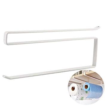 Halter & Spender Kreative Papierhandtuchhalter Kitchen Organizer Schrank Multifunktionsrolle Toilettenpapier Eisen Metall Schrank Hängen Regalhalter