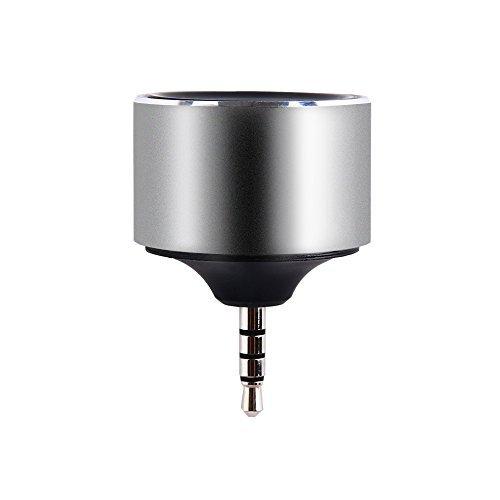 OMARS Récepteur Audio Sans Fil 3.5mm Jack Adaptateur Streaming Maison Dongle avec Microphone Wireless Audio Receiver pour Casques Enceintes Auto Voiture, Gris