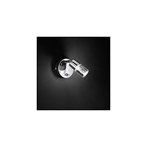 Lámpara de pared Action, 1-lámpara de aluminio 1 x LED/5 W, 14, 5 x 15, 5 x 8 cm, 3000 K, 400 lm, eficiencia energética de clase a + lámpara de pared, ...