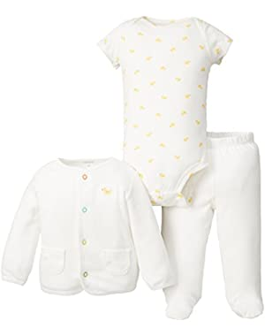 Unisex Baby 3 Pc Footed Set