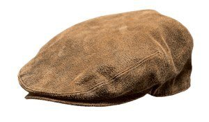 (Outback Trading Leather Ascot Cap - Brown (LG))