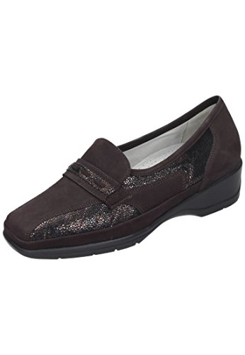 Waldläufer Damen Slipper Braun