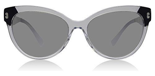 38 Crystal Black/Light Grey Mirror Silver Sunglasses ()