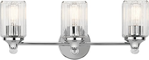 Kichler Lighting 45907CH Three Bath from The Riviera Collection (3 Collection Bulbs)