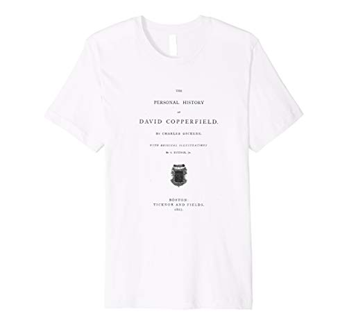 David Copperfield Charles Dickens Title Page T-Shirt Premium -