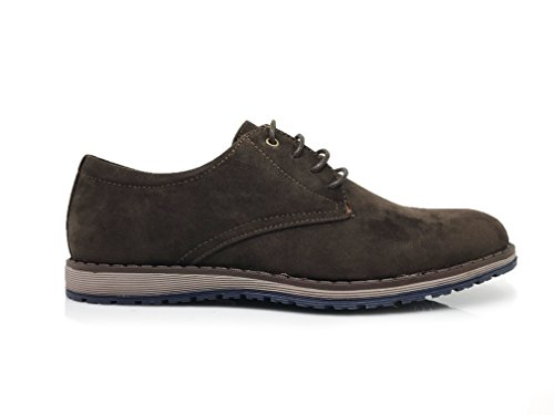 Enzo Romeo SMT Mens Original Leather Insole Suede Classic Oxfords Lace Up Driving Casual Flats Dress Shoes Brown ZVzNHnQ