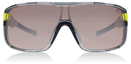 adidas Zonyk S Wrap Sunglasses, Grey Transparent Shiny, 68 mm