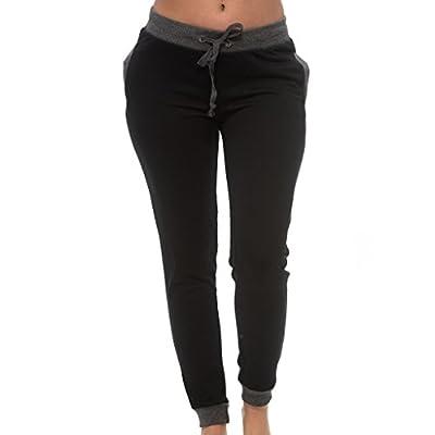 Coco-Limon Jogger Pants For Women, Long Fleece Sweatpant, Side Pockets - Regular & Plus Sizes