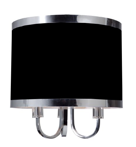 Steven And Chris By Artcraft Lighting Madison Transitional 3-Light Chandelier, Black With Chrome Banding