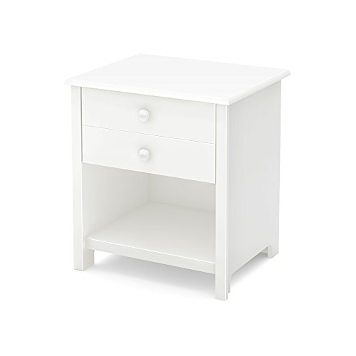 South Shore Little Smileys 1-Drawer Nightstand, Pure White by South Shore