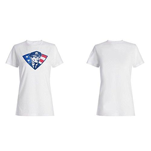 Polizist USA Amerika Kunst lustige Neuheit Damen T-shirt a630f