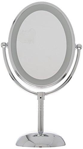 Conair Oval Shaped Led Double Sided Lighted Makeup Mirror