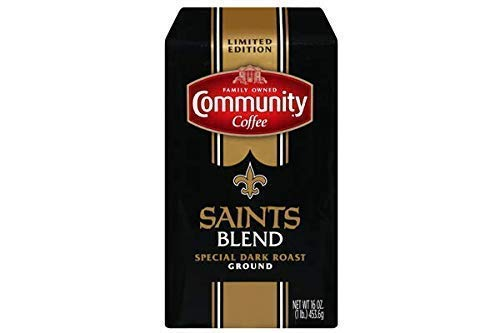 Community Coffee - New Orleans Saints Blend Special Dark Roast - Premium Ground Coffee - 16 oz Bag