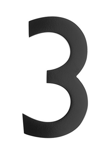 Architectural Mailboxes 3585B-3 5 in. Brass Floating House Number 3, Black by ARCHITECTURAL MAILBOXES