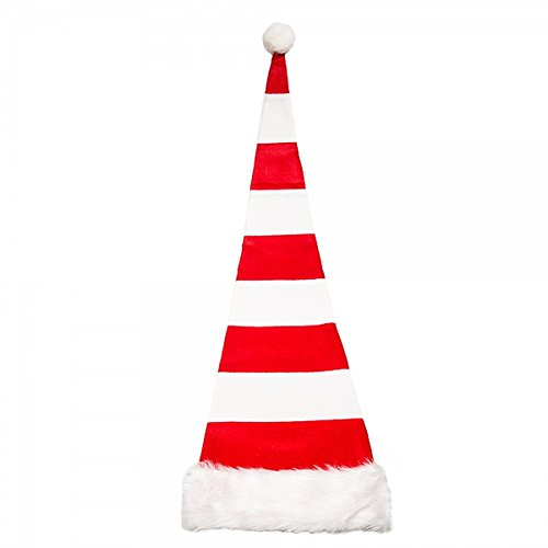Long Santa (FLOMO USA NYGALA CORP Red And White Extra Long Striped Santa Hat)