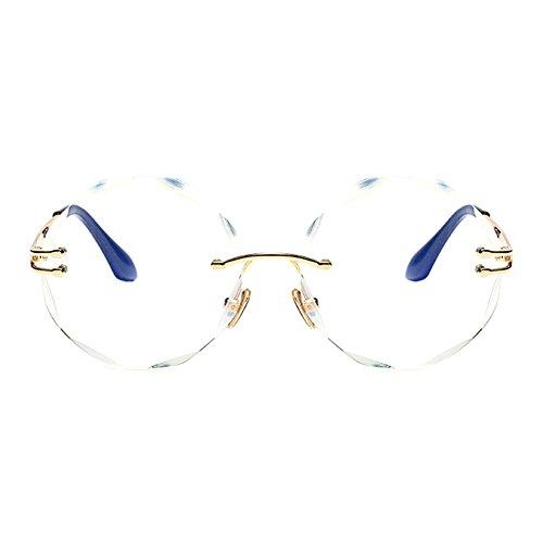 2 Taglio Per Diamante Hzjundasi Occhiali Sole Montatura Da Color Donne Design oversized Lente Moda Senza NkX0nw8OP