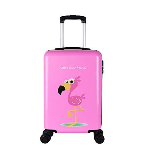 トロリーユニバーサルホイール漫画の子供のスーツケースの女性の韓国語バージョン24インチ20インチ26インチ B07PLHZJ54 ピンク L