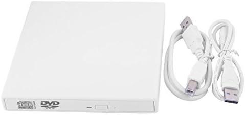 DealMux PC Portátil USB Magro disquete externa CD-RW portátil Disquete Branco