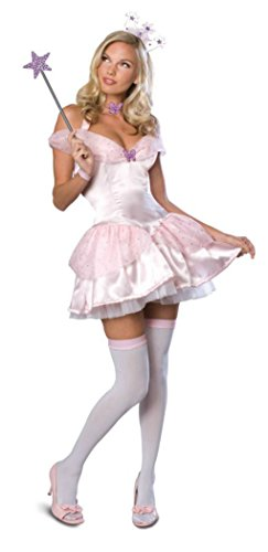 Rubies Womens Wizard Of Oz Glinda The Good Scrt Wishes Sexy Halloween Costume, XS (2-6) (Plus Size Sexy Glinda Costume)