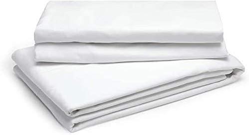 Linen Zone - Sábana de algodón egipcio, 400 hilos, 100% algodón egipcio /algodón/algodón egipcio/lino, Blanco, sábana para cama individual: Amazon.es: Hogar
