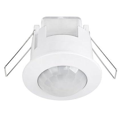 zeyun Detector de movimiento de techo empotrable de infrarrojos/sensor de movimiento (ángulo de