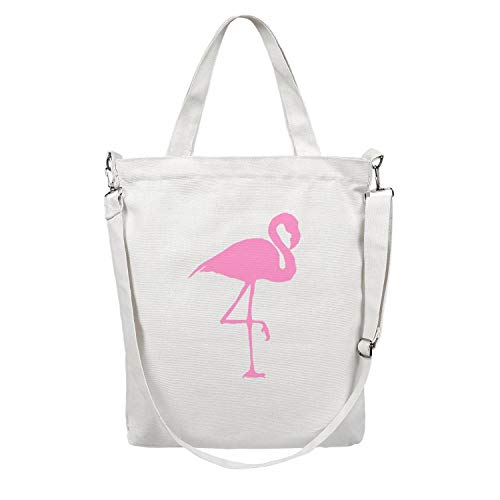 Las Vegas Blvd Hotels - 12.5X15 Inches Cute Zip Custom Design Canvas Large Tote Bag For Women can the flamingos color fly facts Foldaway Travel Beach Work Gym Book Lunch School Shopping Shoulder Handbag