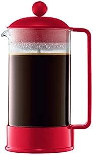 Bodum Cafeteira French Press Brazil, 1 litro vermelho