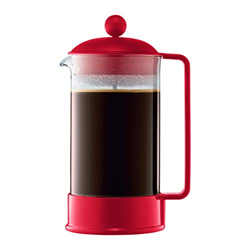 Bodum Brazil French Press Coffee Maker, 34 Ounce, 1 Liter Red
