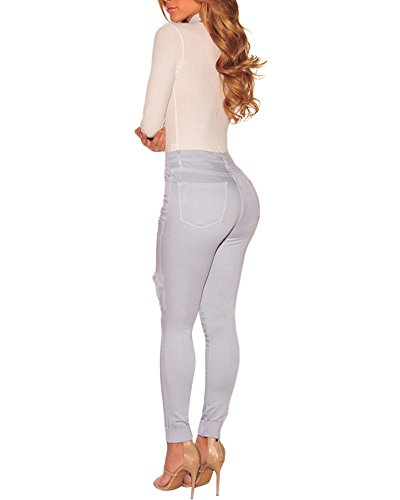 Skinny Matita Donna Come Stretch Strappati Immagine Slim Leggings Denim Larghi Jeans Casuale Eleganti Pantaloni C4dqYx0w4