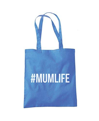#MUMLIFE Mum Life - Tote Shopper Fashion Bag Cornflower Blue