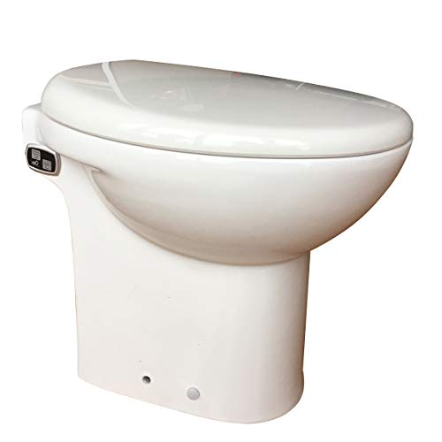 600 Watt Macerating Toilet with 4/5HP Pump Built Into the Base, AC110V Macerator Pump, White Finish (4/5HP)