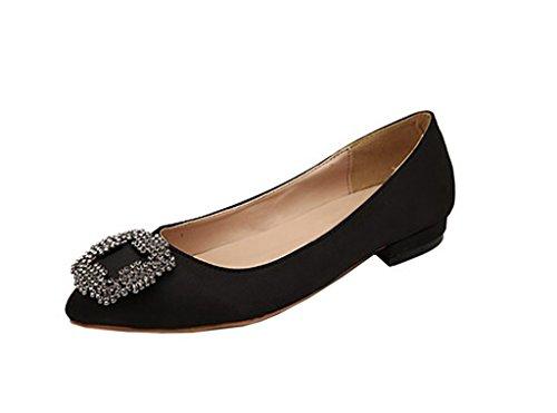 Arc-en-Ciel zapatos de mujer pisos de punta redonda Negro