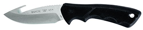 Buck Knives 0685BKG Bucklite Max II Large Guthook Fixed Blade Knife with Sheath, Black