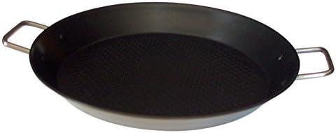 Callaway Paellera de INOX Antiadherente, 36 cm, Plateado/Negro