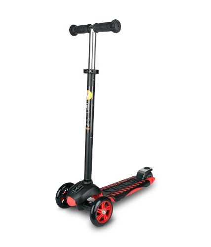 YBIKE GLX Pro Scooter, Black/Red, 12cm