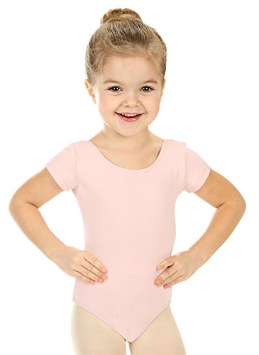 Elowel Girls' Team Basics Short Sleeve Leotard Baby Pink (size-8-10 ) by Elowel