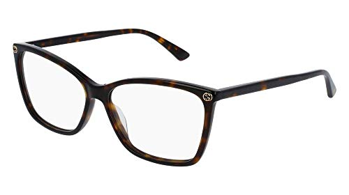 Gucci GG0025O Optical Frame 002 Avana Avana 56 mm