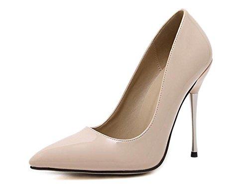 LDMB Pointure Toe Court Chaussures Minces Avec Talons Basse Pour Aider Chaussures Simple , apricot , 40