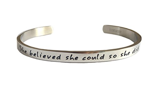 she-believe-she-could-so-she-did-inspirational-bracelet-cuff-bangle-silver-tone-standard-size