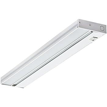 NICOR Lighting 21 Inch Slim Dimmable 2700K LED Under Cabinet Light Fixture,  White (